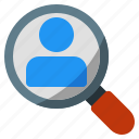 friend, magnifier, people, search icon