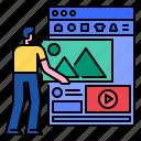 dashboard, display, interface, network, template, ui, website
