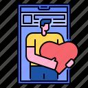 communication, community, heart, like, love, media, social