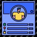 avatar, facebook, information, media, profile, social, user