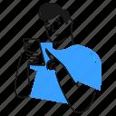 checking, phone, social, media, check, text, message