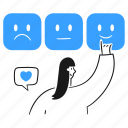 rating, social, media, rate, reputation, opinion, feedback icon