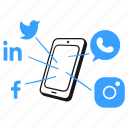 social, media, network, twitter, facebook, linkedin, instagram icon