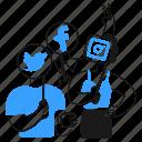 social, media, network, twitter, facebook, instagram, mobile icon