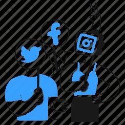 social, media, network, twitter, facebook, instagram, mobile