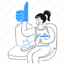 thumb, up, like, reaction, support, hand, agree icon