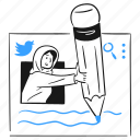 tweet, something, bird, post, opinion, thought, comment icon