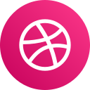 dribbble, social media, logo icon