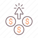 click, cost, cpc, per icon