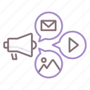 campaign, announcement, speaker, megaphone icon