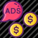 advertising, media, paid, social icon