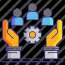 community, management, services icon