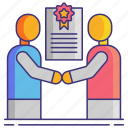 business, contract, negotiation icon