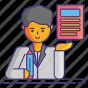 copywriting, document, scripting icon