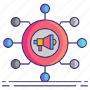 channel, cross, marketing icon