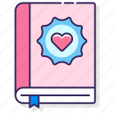 brand, guidelines, heart, notebook