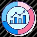 graph, kpi, media, statistics icon