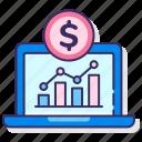 money, paid, statistics, traffic icon
