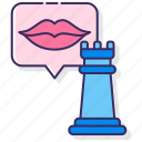 lips, rook, social, strategy icon
