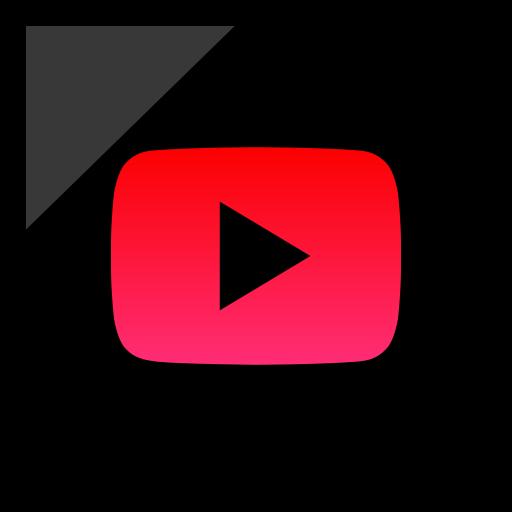 company, logo, media, play, social icon