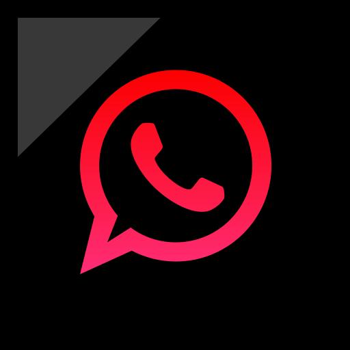 company, logo, media, social, whatsapp icon