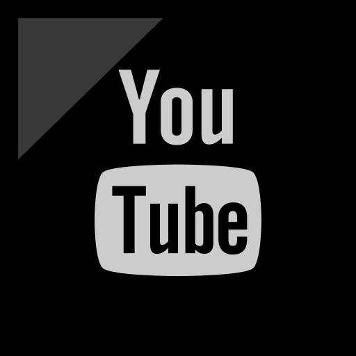 company, logo, media, social, youtube icon