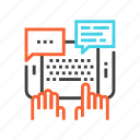chat, comment, communication, conversation, mail, message, typing icon