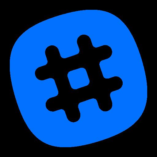 Hashtag, media, network, social icon - Free download