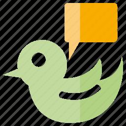 bird, chat, speech, talk icon