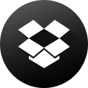 black white, dropbox, gradient, long shadow, media, social, social media icon