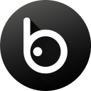 badoo, black white, circle, gradient, media, social, social media icon