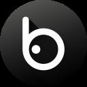 badoo, black white, circle, gradient, media, social, social media