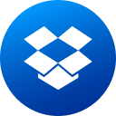 circle, dropbox, gradient, high quality, media, social, social media icon