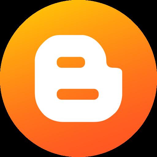 blog, blogger, blogspot, circle, gradient, social, social media icon