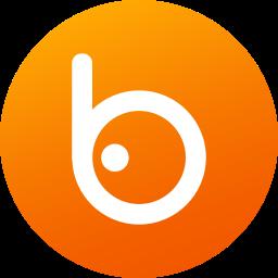 badoo, circle, colored, gradient, media, social, social media icon