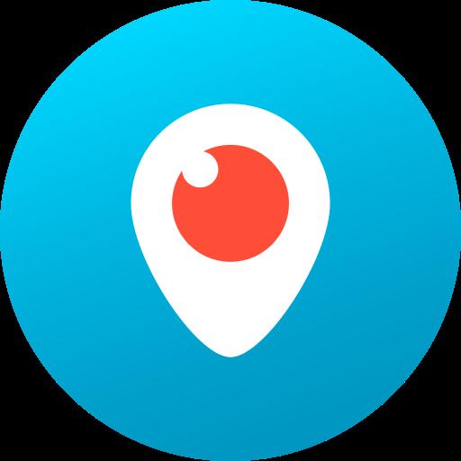 circle, colored, gradient, media, periscope, social, social media icon