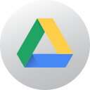 circle, google drive, gradient, high quality, media, social, social media icon