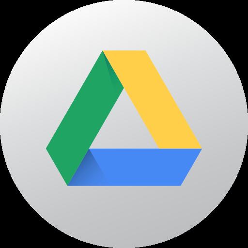 circle, google drive, gradient, high quality, media, social, social media icon
