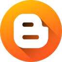 blog, blogger, blogspot, circle, gradient, media, social media icon