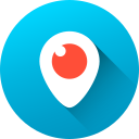 circle, gradient, long shadow, media, periscope, social, social media icon