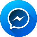 circle, gradient, long shadow, media, messenger, social, social media icon