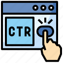 click, commerce, discount, marketing, percent, rate, through