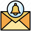 email, notification, bell, message, envelope, communications