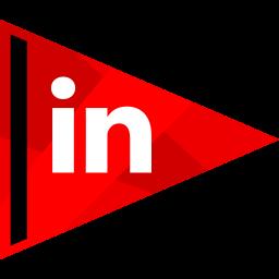 in, linked, media, online, social icon