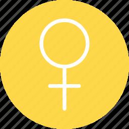 female, female icon, female sign, female symbol icon