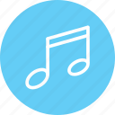 audio, music, music note, note, sing, symphony icon