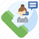 call, customer, support, telemarketer, user icon