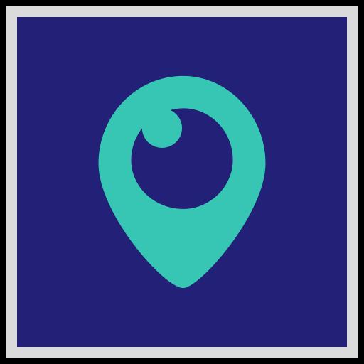 logo, media, periscope, social icon