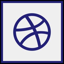 dribbble, logo, media, social icon