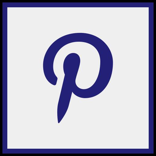 logo, media, pinterst, social icon